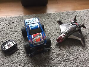 Toy Jet and Remote Control Truck