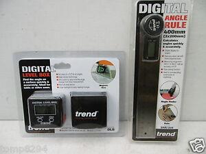 TREND DIGITAL SET LEVEL BOX ANGLE FINDER DLB + ANGLE RULE DAR/200