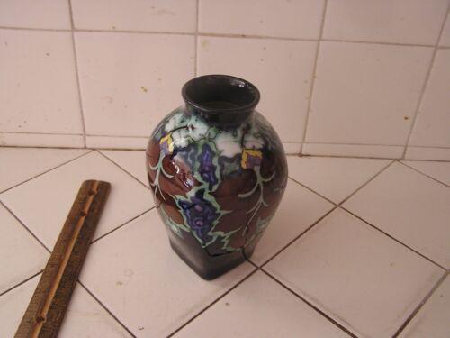 Antique Colorful Beautiful Gouda Pottery Vase Regina Cordoba