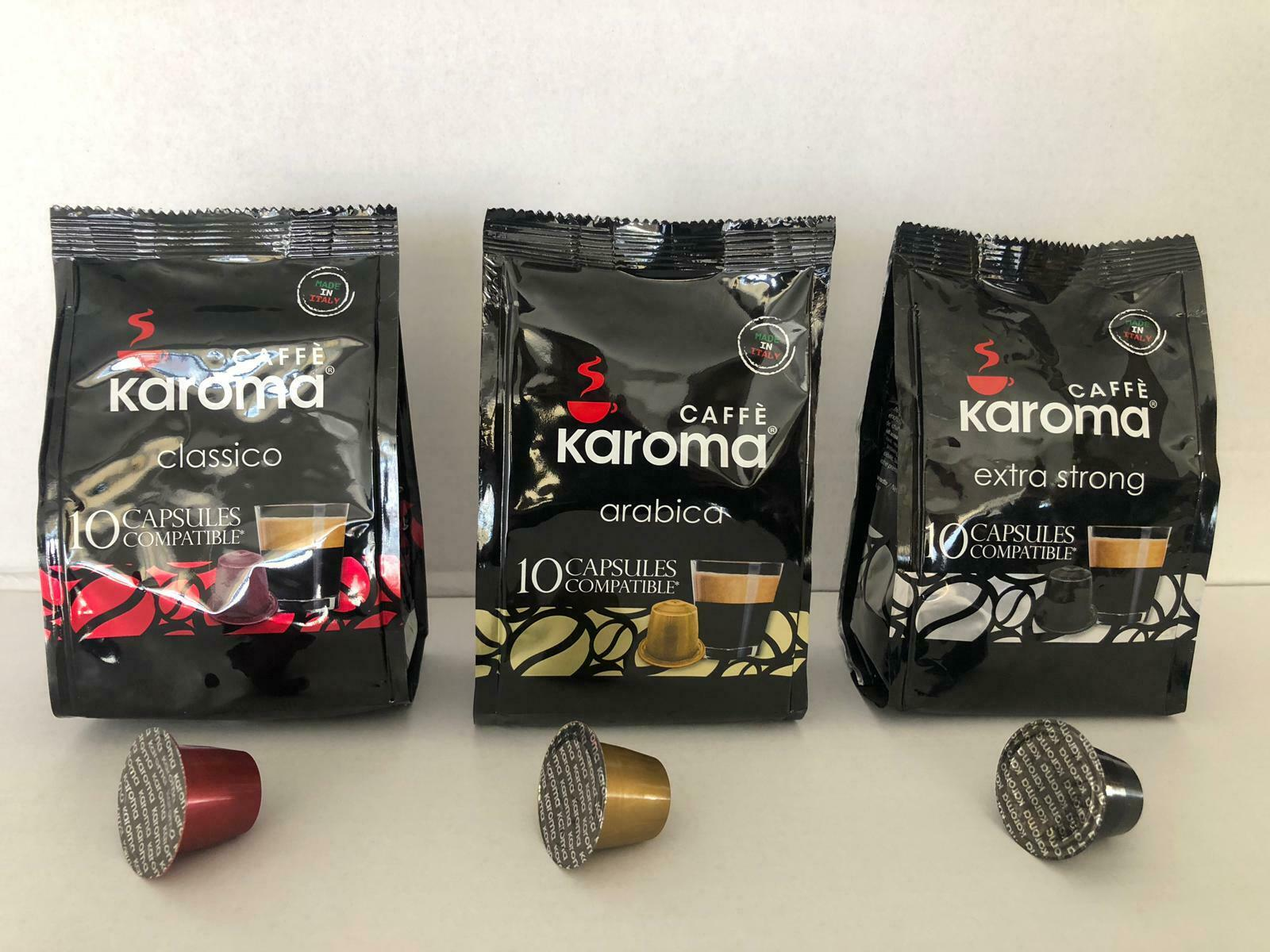 300 Capsule Cialde Caffè MIX Compatibili Nespresso gusto(Classico,Forte,Arabica)