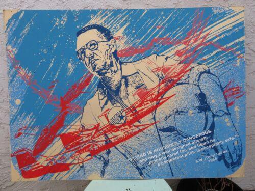 Vintage Lockheed Silkscreen Poster, Employee Inspiration, One of a Kind, Rare!