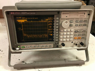 Hpagilent 35670a Fft Dynamic Signal Analyzer Loaded