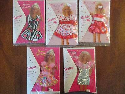 Barbie Fashion Greeting Cards 10 in lot 1994 and 1995 NEVER OPENED