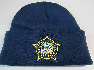 CHICAGO POLICE EMBROIDERED KNIT HAT