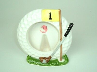 Vintage Ceramic Golf Golfers Man Cave Photo Frame Gift For Dad Made in Japan