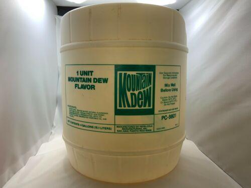Mountain Dew 4 Gallon Syrup Jug 1983