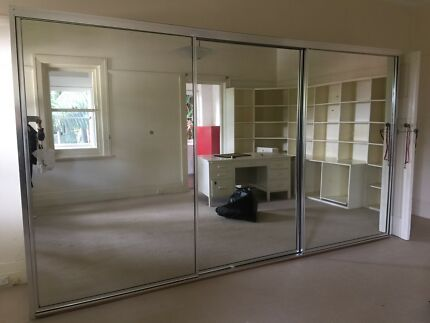 Very large three sliding door mirror cupboard