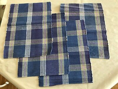 Placemats - Colorful Blue/Purple Multi-Color - Set of 4 - - Barely Used!