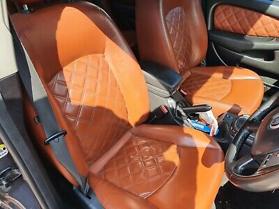 Jaguar X Type saloon Quilted Leather Seats and Door Cards in Spice
