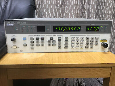 Hp Agilent 8656b 100khz To 990mhz Signal Generator Power Tested Only
