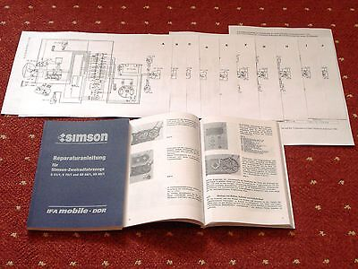 NEU Reparaturanleitung Simson S51/1 S70/1 SR 50/1 SR 80/1 12V Schaltpläne