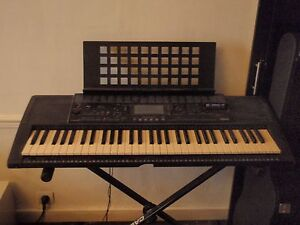 Yamaha keyboard and stand and seat