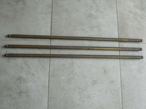 set of 3 Antique Brass Carpet Stair Rods French Art Nouveau