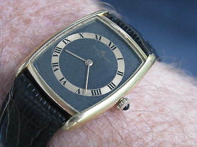 Baume & Mercier Vintage 18K Gold Manual Wind Wrist Watch, THIN & CLASSY
