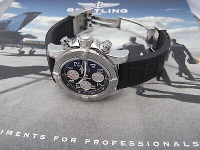 Breitling Avenger II A13381 Chronograph Steel Automatic Black Dial Full Set