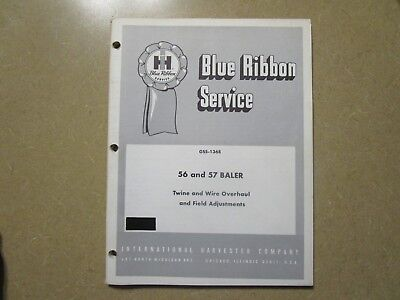 International Harvester 56 57 Baler Service Repair Manual