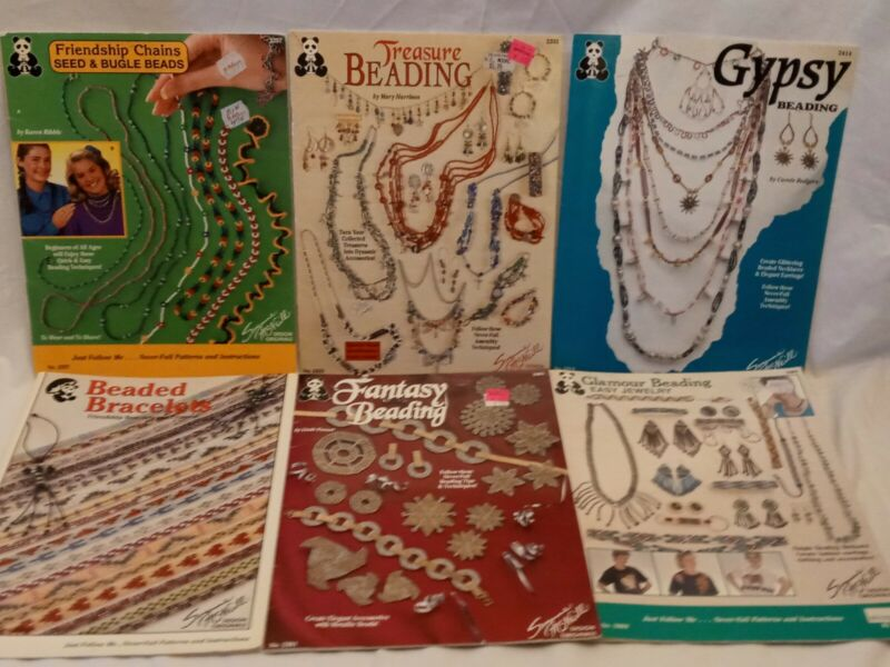 Lot of 6 Suzanne McNeill seed bead beading books bracelets necklaces earrings