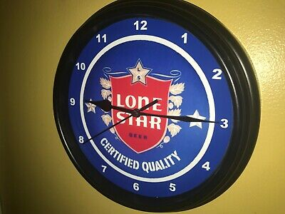*Lone Star Texas Beer Bar Advertising Man Cave Clock Sign3
