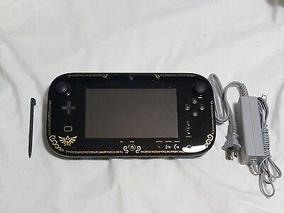 Nintendo Wii U Zelda Wind Waker GamePad w/ Stylus & OEM Power Cord tablet remote