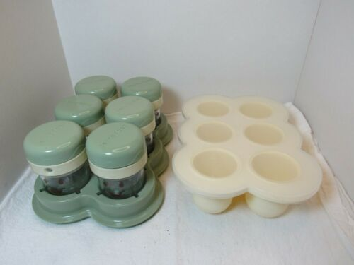 Baby Bullet Date Dial Food Storage Jars And Silicone Easy Pop Freezer Tray