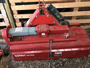 Tiller attachment for small tractor