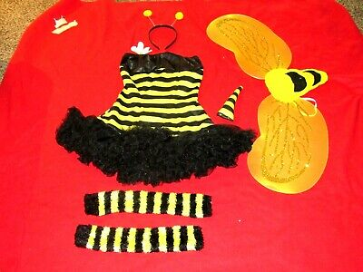 Adult Women's Sexy Bumble Bee Costume/Dress Wings Skimpy Halloween Size S/M - Skimpy Halloween