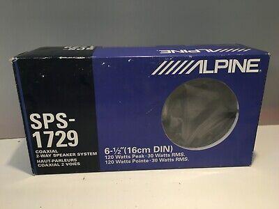 ALPINE SPS-1729 Coaxial 2-Way Speaker System