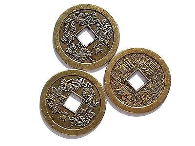5 Chinesische Glücksmünzen China Glücksbringer Glück Talisman Feng Shui 4 cm