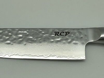 RCP chef knife! Only the best! Lifetime warranty! Damascus Steel New in Gift