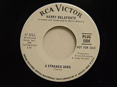 Harry Belafonte 45 Strange Song   Sunflower   Rca Vg   Soul