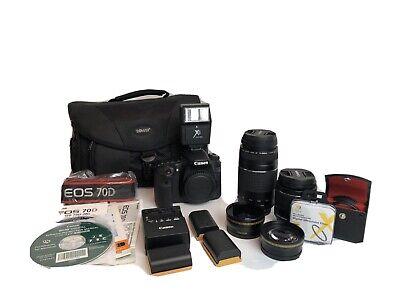canon eos 70d 20.2mp digital slr camera Kit
