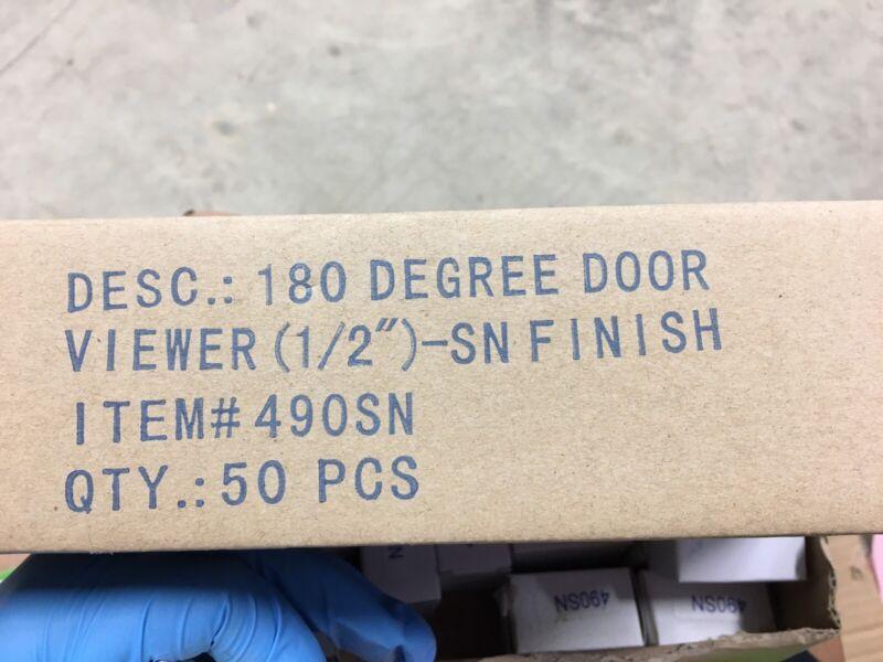 180 Degree Peephole Door Viewer Security Peep Hole Hardware, Satin Nickel