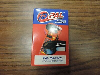 New Brady Id Pal Labeling Cartridge 750-439yl Yellow Vinyl 34 B439 - 21 Feet