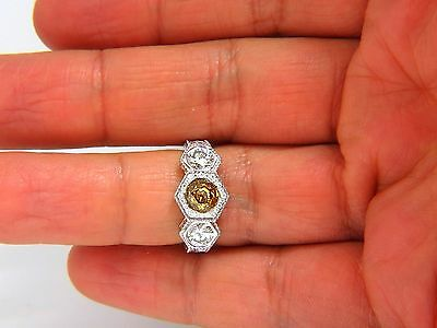 GIA 2.30CT FANCY YELLOW BROWN DIAMONDS RING 18KT EDWARDIAN CROWN DECO+ 5