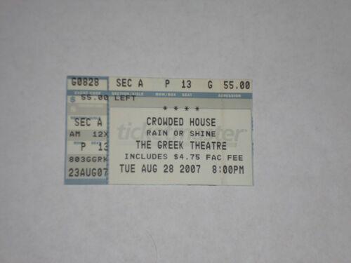 Crowded House Liam Finn Pete Yorn Ticket Stub-2007-The Greek Theatre-LA,CA