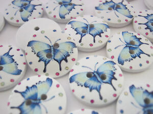 crafts to sell 10 blue butterfly buttons 18mm 3 4 quot wooden butterflies 1775