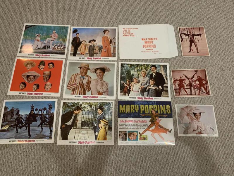 MARY POPPINS original lobby card set DISNEY 11x14 movie pictures JULIE ANDREWS +