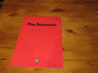 1984 Volkswagen Scirocco brochure