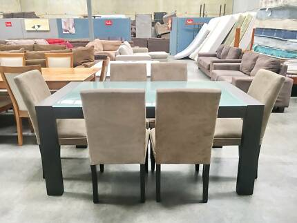TODAY DELIVERY 7 pcs MODERN CHOCOLATE dining table