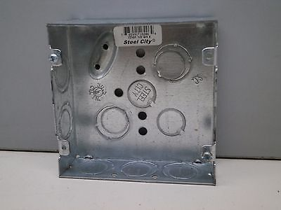 20 Steel City 72151-12-34-e Two-gang Outlet Box 4-1116 Square 1-12 Deep