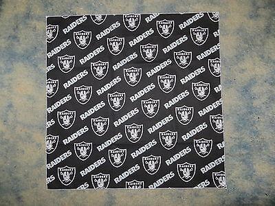 NFL OAKLAND RAIDERS BLACK HEAD BANDANA - CHEERING CLOTH - APPROX 22 1/2