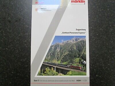 "Marklin spur z scale/gauge ""Gotthard Parorama Express"" Train Set. New. for sale  Shipping to United States"