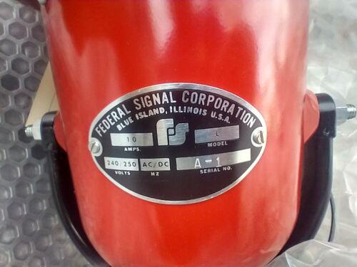 FEDERAL SIGNAL CORPORATION SIREN ALARM MODEL L