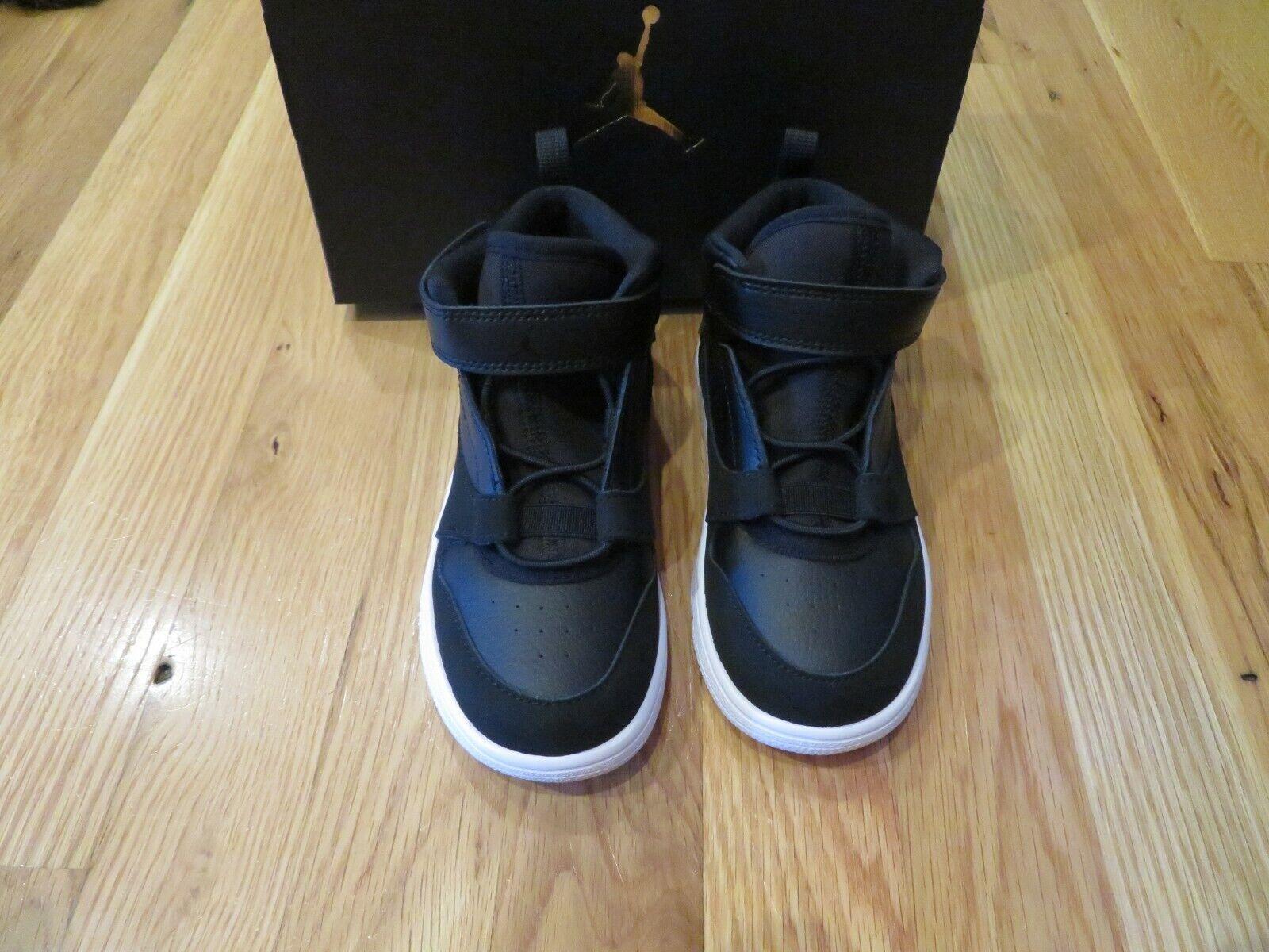 NWT Toddler Boys Black Nike Jordan Fadeaway Tennis Shoes, Si