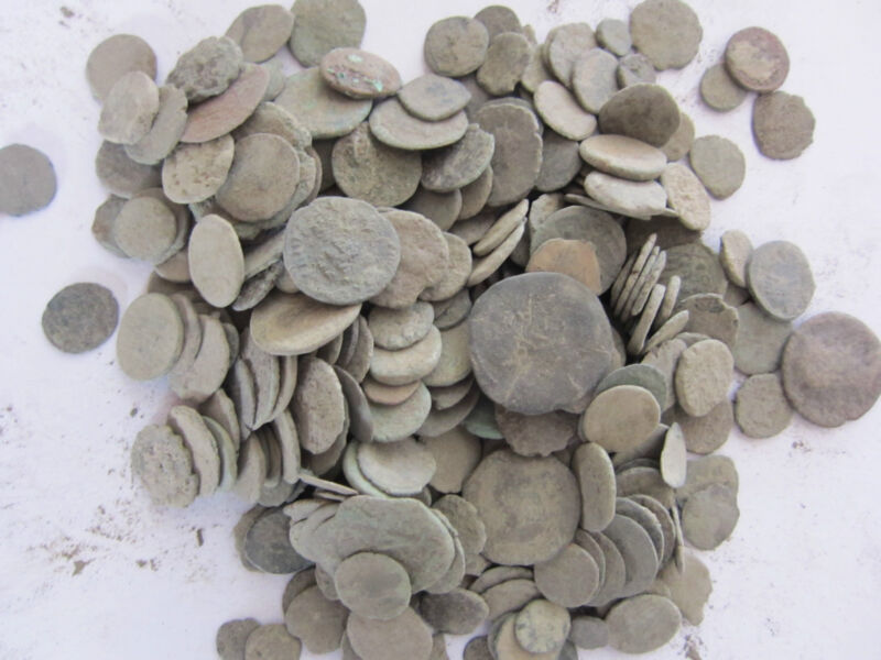 50- AGRON - Ancient Roman coins with mix of others - Smaller in size than others