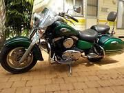 Kawasaki Vulcan 1500 Motor Bike, Beautiful green Darwin CBD Darwin City Preview