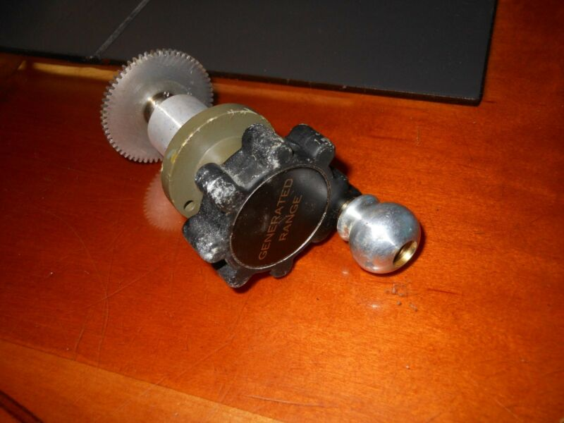 NOS Vintage Military Surplus Rheostat Generated Range Dial Knob Crank