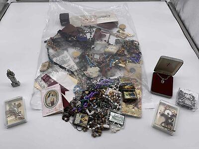 Bulk Religious Grab Bag Lot 3.3LBS Statuettes/Rosaries & More