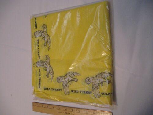 12 NOS vintage wild turkey bourbon advertising bandana, handkerchief, napkin