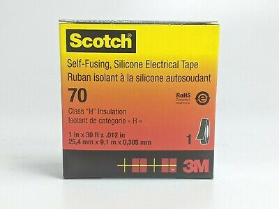 3m Scotch 70 1 In. X 30 Ft. X .012 In. Self-fusing Silicone Electrical Tape